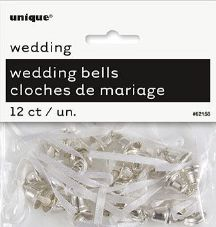 Wedding Favour Bells In Silver